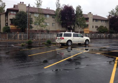 pavement services: parking lot with striping in Anchorage, Alaska