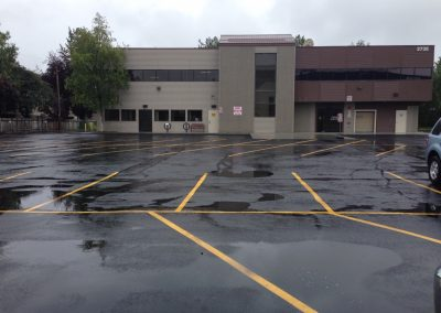 completed parking lot pavement project in Anchorage, Alaska