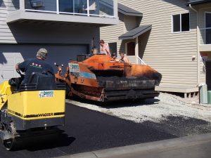 building new residential asphalt driveway in Anchorage, Alaska