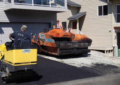 building new residential asphalt driveway in Anchorage, Alaska